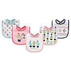 Hudson Baby® 5-Pack Cactus Drooler Bibs in White