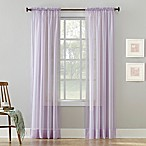 Sheer Lavender 64-Inch Rod Pocket Window Curtain Panel