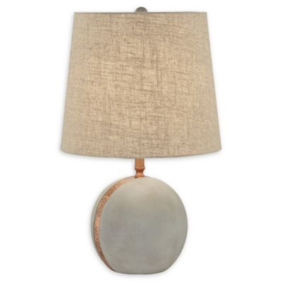 Pacific Coast Lighting Cement Ball Table Lamp In Copper