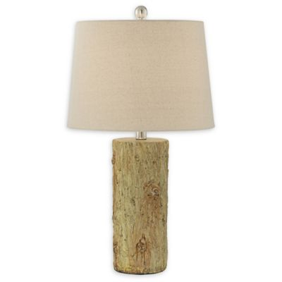 Pacific Coast Lighting® 1 Light Faux Tree Bark Table Lamp