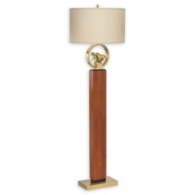 Buy walnut floor lamp from bed bath beyond pacific coast lighting horses floor lamp in walnut aloadofball Images