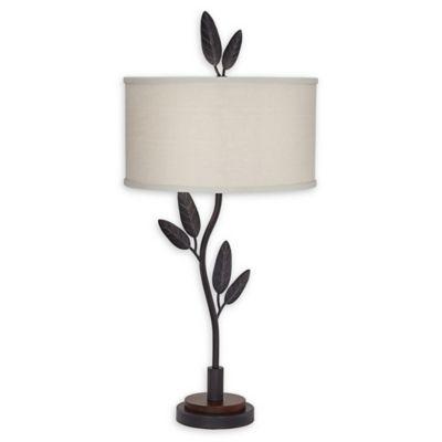 Pacific Coast Lighting Cast Iron Leaves U0026 Twigs Table Lamp In Black