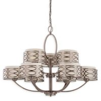 Filament Design Harlow 9-Light Flush-Mount Chandelier in Bronze