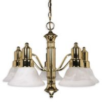 Filament Design 24.5-Inch 3-Light Chandelier in Polished Brass