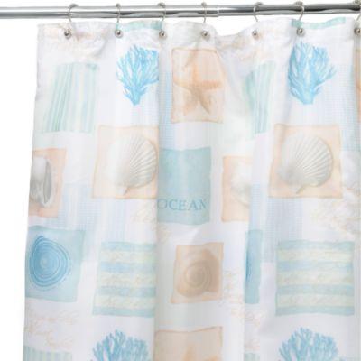 Seaside White 70 Inch W X 72 Inch L Shower Curtain