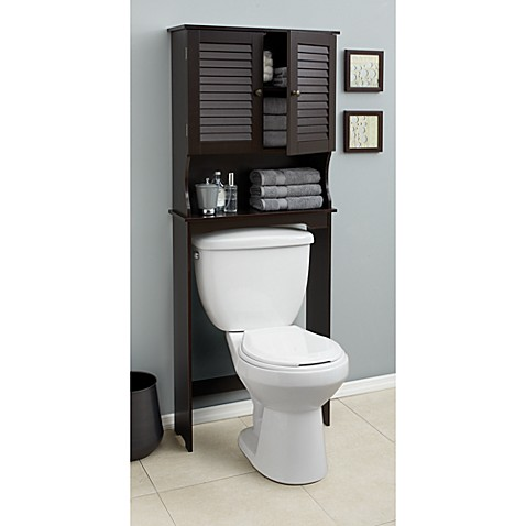 Buy Louvre Bath Space Saver In Espresso From Bed Bath Beyond