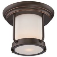 Filament Design Mahogany Flush-Mount Outdoor Light in Bronze