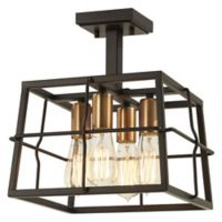 Minka-Lavery® Keeley Calle 4-Light Semi-Flush Fixture in Bronze