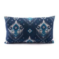 Zuo® Modern Ikat Oblong Throw Pillow in Blue/Natural