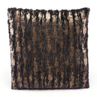 Zuo® Modern Metallic Waves Square Throw Pillow in Black/Gold
