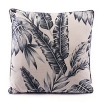 Zuo® Modern Leaves Square Throw Pillow in Black/Beige