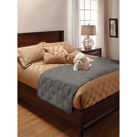 Innovative Textile Full/Queen Faux Suede Bed Protector in Grey