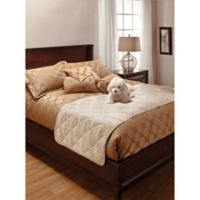 Innovative Textile Full/Queen Faux Suede Bed Protector in Natural