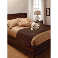 Innovative Textile Full/Queen Faux Suede Bed Protector in Chocolate