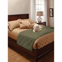 Innovative Textile King Faux Suede Bed Protector in Sage