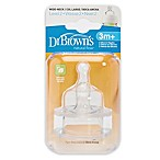 Dr. Brown's Natural Flow® Silicone Wide-Neck Level 2 Baby Bottle Nipples (2-Pack)