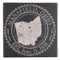 """Thirstystone® """"Mansfield, Ohio"""" Stamp Single Square Coaster"""
