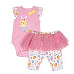 Sterling Baby Size 3M 2-Piece Cute Chick Bodysuit and Tutu Pant Set in Pink