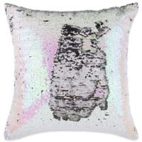 Make-Your-Own-Pillow Mermaid 20-Inch Square Throw Pillow Cover in Pink/White