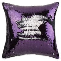Make-Your-Own-Pillow Mermaid 20-Inch Square Throw Pillow Cover in Purple/White