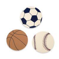 NoJo® Play Ball 3-Piece Wooden Wall Art