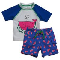 Sovereign Code™ Size 3M 2-Piece Watermelon Rashguard Set