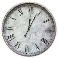 Stratton Home Décor Gaston Wall Clock in Silver