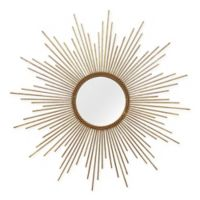Stratton Home Décor 26-Inch Round Andrea Wall Mirror in Gold