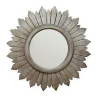 Stratton Home Décor 29-Inch Round Madilyn Wood Wall Mirror in Silver