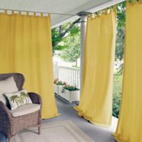 Elrene Home Fashions Matine 108-Inch Tab Top Window Curtain Panel in Yellow