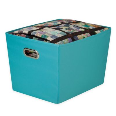Honey Can Do® Large Decorative Storage Bin With Handles In Blue