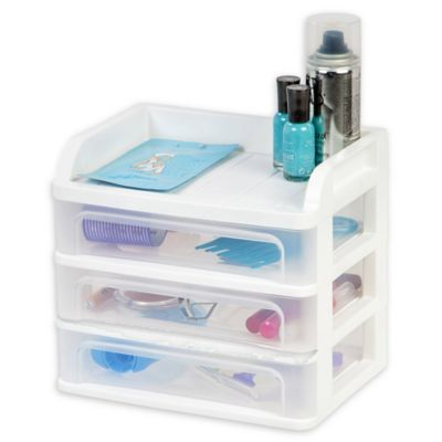 IRIS® Small 3 Drawer Desktop Organizer In White