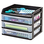 IRIS® 3-Drawer Desktop Organizer in Black