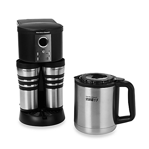 hamilton beach stay or go custom pair thermal stainless steel coffee maker