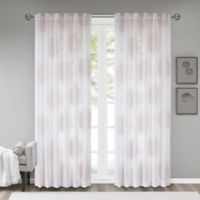 Madison Park Genia 95-Inch Rod Pocket Sheer Window Curtain Panel in Blush