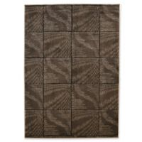 Linon Home Milan Collection Square 1'10 x 2'10 Accent Rug in Brown