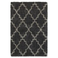 Oriental Weavers Henderson Lattice 3'10 x 5'5 Shag Area Rug in Charcoal