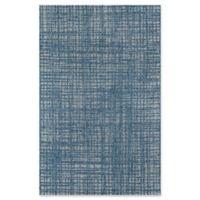 Momeni Como Plaid 6'7 x 9'6 Indoor/Outdoor Area Rug in Blue