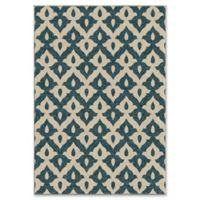 Orian Rugs Tribal Trellis 7'8 x 10'10 Indoor/Outdoor Area Rug in Admiral Blue