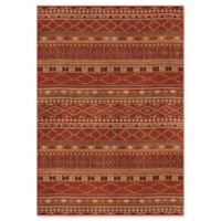 Orian Rugs Mardi Gras Zemmour Woven 5'3 x 7'6 Area Rug in Red
