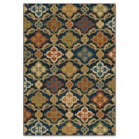 Orian Rugs Mardi Gras Tuscan Field Woven 5'3 x 7'6 Area Rug in Blue