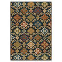 Orian Rugs Mardi Gras Tuscan Field Woven 7'10 x 10'10 Area Rug in Blue
