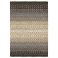 Orian Rugs Modern Grace Zig Zag Chevron Woven 5'3 x 7'6 Area Rug in Grey