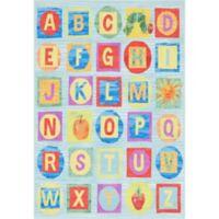 Home Dynamix Eric Carle Elementary Alphabet Block 4'11 x 6'6 Area Rug in Blue