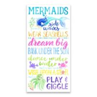 Artissimo Designs™ Mermaid Glitter 12-Inch x 24-Inch Embellished Canvas Wall Art