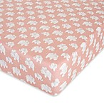 Glenna Jean Elephant Herd Fitted Crib Sheet in Blush