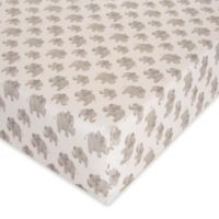 Glenna Jean Elephant Herd Fitted Crib Sheet in Natural
