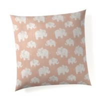 Glenna Jean Elephant Herd Throw Pillow in Blush