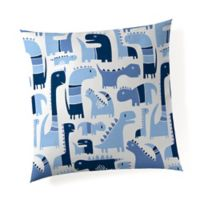 Glenna Jean Dino Throw Pillow in Blue