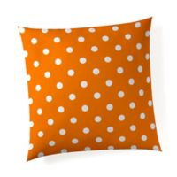 Glenna Jean Orange Dot Throw Pillow